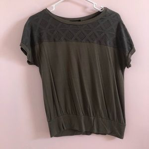 Green Top with Detailed Neck Line